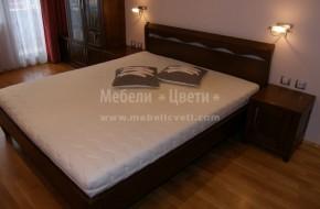 """Поръчкова спалня модел """"Милано"""" от масивна букова дървесина, произведени в Троян."""
