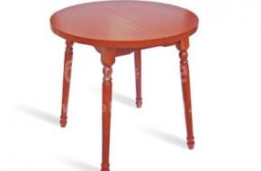 Кухненска или трапезарна маса, изработена от букова дървесина. Плотът е кръгъл и разгъваем, диаметърът му достига до 1100мм.