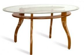 Стилна неръзгаваема маса за всекидневна или трапезария. Плотът е стъклен, а всички дървесни части са изработени от буков масив.