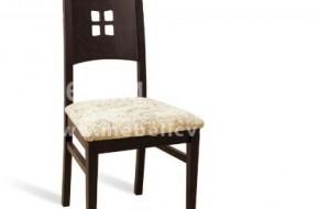 Трапезарен стол с тапицерия или кожена седалка.