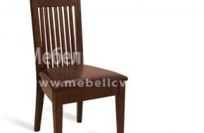 Постигната е хармония в дизайна и удобството на буковия стол.
