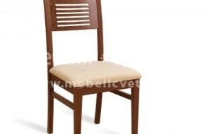 Стол за кухня или трапезария, изработен изцяло от буков масив. Цветът, байцът, лакът и дамаската са по избор на клиента.