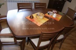 Всички столове от масив предлагани от Мебели Цвети могат да бъдат изпълнени с подлакътници
