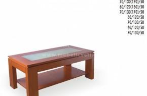 Горния плот на масата е от матово стъкло