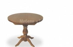 Кръгла маса за хранене по поръчка с масивен среден крак