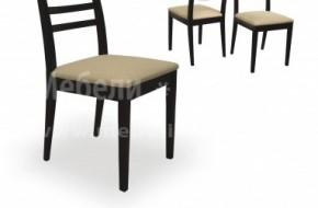 Класически стол, направен от бук, с тапицирана седалка