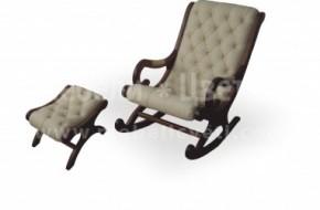 Люлещо се кресло с малка табуретка за краката