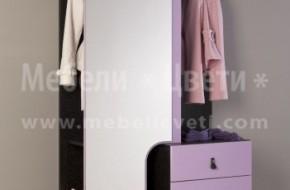 Цвят на мебелите сакура ноар и лила 89.Цена на комплекта 295 лева .