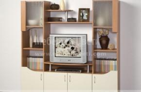 Холна мебел от ламинат в цвят - череша академия и слонова кост .Цена на обзавеждането 282 лева Срок за доставка 5 работни дни