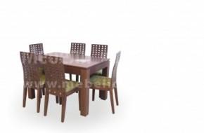 Масата е модел Кипарис не разтегателна ,столовете са модел Стил с болт