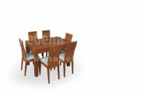 Разтегателна трапезарна маса със шест стола Дъблин