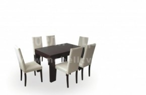 Стол с мека облегалка модел Болоня и маса Хибрид 2.