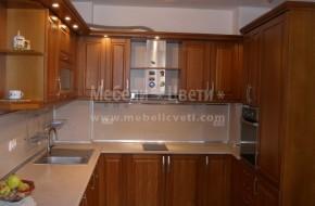 Обзавеждане за кухня от масив - бук и вградени електроуреди.Цена 4950 лева от бук